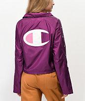 Champion Zipper Tape Venetian Purple Crop Coaches Jacket