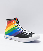 Converse Chuck Taylor All Star Hi Pride Rainbow & Black Shoes