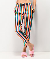 Cross Colours Pop Stripe Jogger Sweatpants