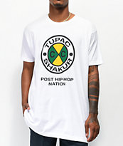 Cross Colours Tupac Circle Logo camiseta blanca