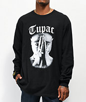 Cross Colours Tupac Praying Hand camiseta negra de manga larga