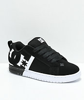 DC Court Graffik SQ zapatos de skate en negro y blanco