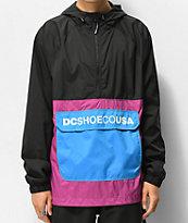 DC Sedgefield 2 chaqueta anorak negra y morada