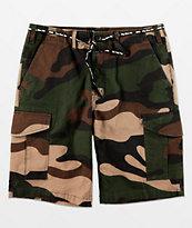 DGK Big Woods Green Camo Cargo Shorts