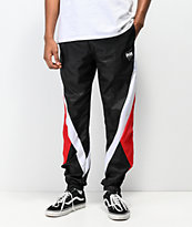 DGK Mirage Swishy Black & Red Track Pants