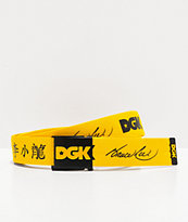 DGK x Bruce Lee Dragon Yellow Web Belt