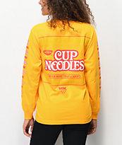 DGK x Cup Noodles Logo camiseta dorada de manga larga