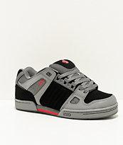 DVS Celsius Grey, Black & Red Skate Shoes