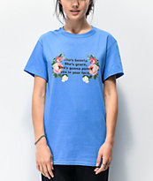 Daisy Street She's Beauty She's Grace Blue T-Shirt