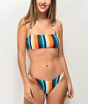 Damsel Arlo Stripe High Leg Bikini Bottom