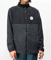 Dark Seas x Grundens Black Polar Fleece Jacket