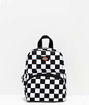 Dickies Logo Black & White Check Mini Backpack
