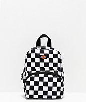 Dickies Logo mini mochila de cuadros negros y blancos