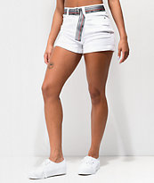 Dickies Mom Shortie Rolled Cuff White Shorts