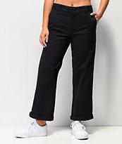 Dickies Roll Hem pantalones negros de trabajo