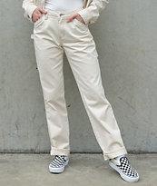 Dickies pantalones de carpintero de color natural