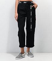 Dickies pantalones negros de utilidad con cinturón