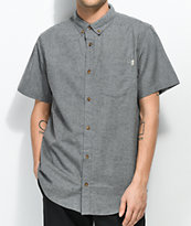 Dravus Alvin Jasper camisa de manga corta en gris jaspeado