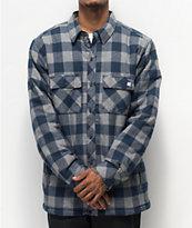 Dravus Blue & Grey Sherpa Flannel Shirt