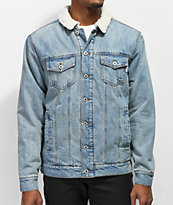 Dravus Locate Sherpa Lined Denim Jacket