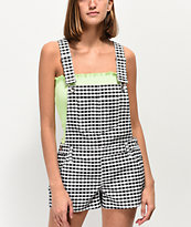 Empyre Cora Gingham Overall Shorts