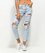 Empyre Easton jeans desgastados en azul claro
