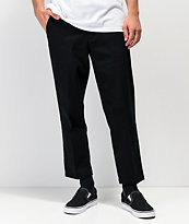Empyre Seth Black Crop Chino Pants