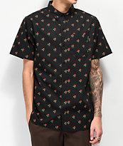 Empyre Tate Black Short Sleeve Button Up T-Shirt