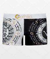 Ethika Faith Black & White Boyshort Panty
