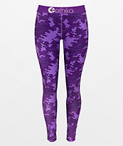 Ethika Punch Camo Purple Leggings