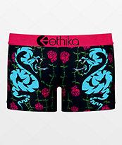 Ethika Snaked Rose Boyshort Panty