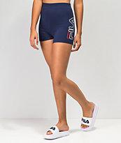 FILA Beatriz High Waist Navy Bike Shorts