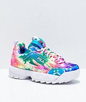 FILA Disruptor II Tie Dye Print Shoes