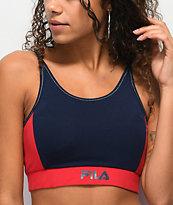FILA Katana sujetador deportivo azul marino y rojo