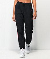 FILA Marielle Black & Red Track Pants