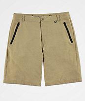 Free World Maverick Dark Khaki Hybrid Shorts
