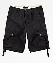 Freeworld Wreckage Black Cargo Shorts