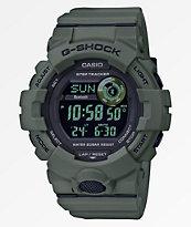 G-Shock GBD800 reloj digital en oliva oscuro y negro