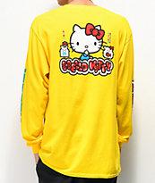 Girl x Hello Kitty 45th Anniversary camiseta amarilla de manga larga