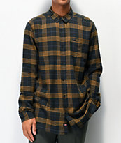Globe Dock Gold & Green Flannel Shirt