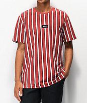 HUF Dexter Stripe Red & White Knit T-Shirt