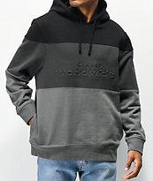 HUF Division sudadera con capucha negra y gris