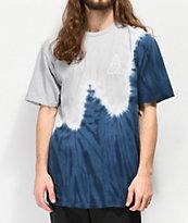 HUF Peak Indigo & Grey Tie Dyed T-Shirt