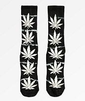 HUF Plantlife Lightning Washed Black Crew Socks