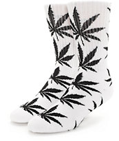 HUF Plantlife White & Black Crew Socks