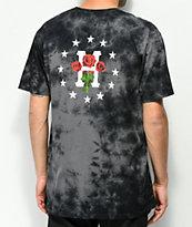 HUF Stoned Roses camiseta tie dye negra