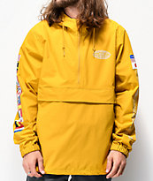 HUF World Tour chaqueta anorak dorada