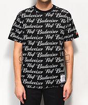 HUF x Budweiser All Over Black Woven T-Shirt