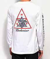 HUF x Budweiser Eagle camiseta blanca de manga larga