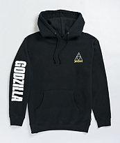 HUF x Godzilla Triple Triangle Black Hoodie